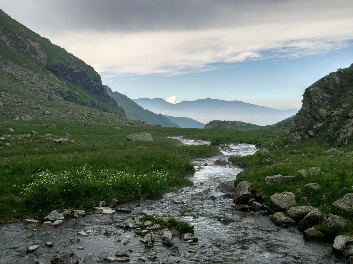 Scendendo lungo il vallone Bulè