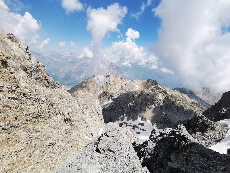 dal colletto vista sulla Val Maira