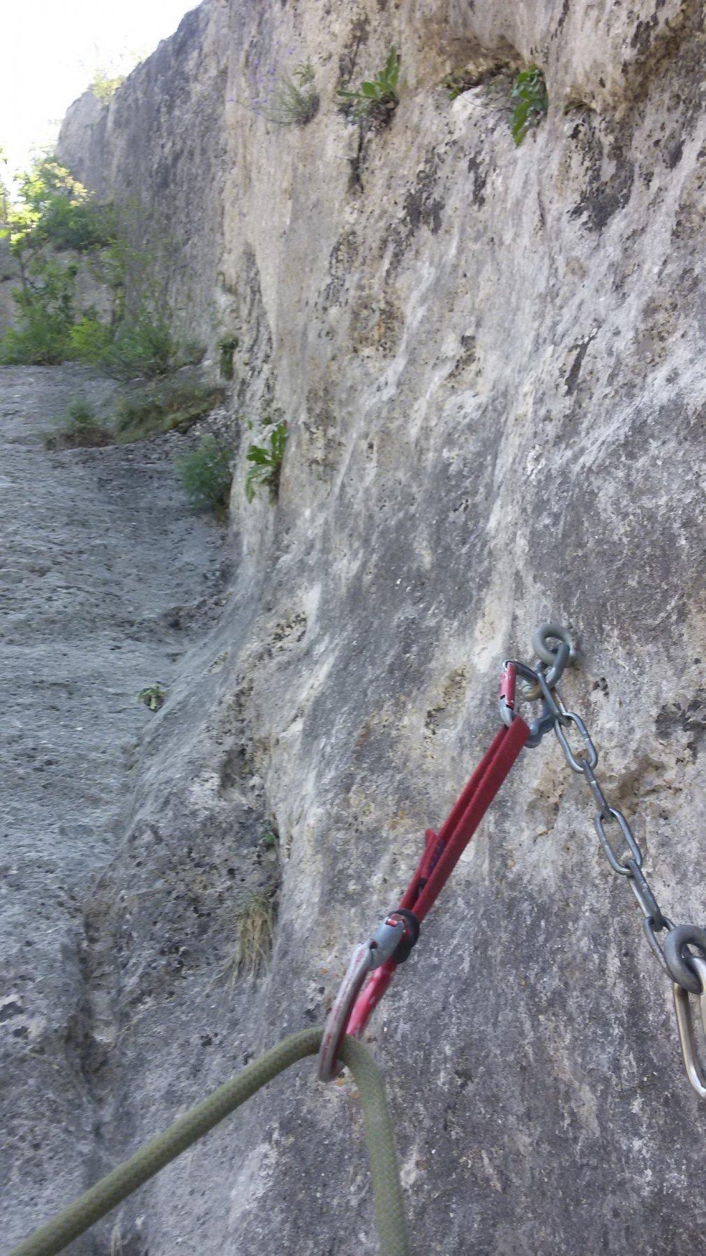 tanta bella roccia anche sopra la sosta di Bande de Sauvages