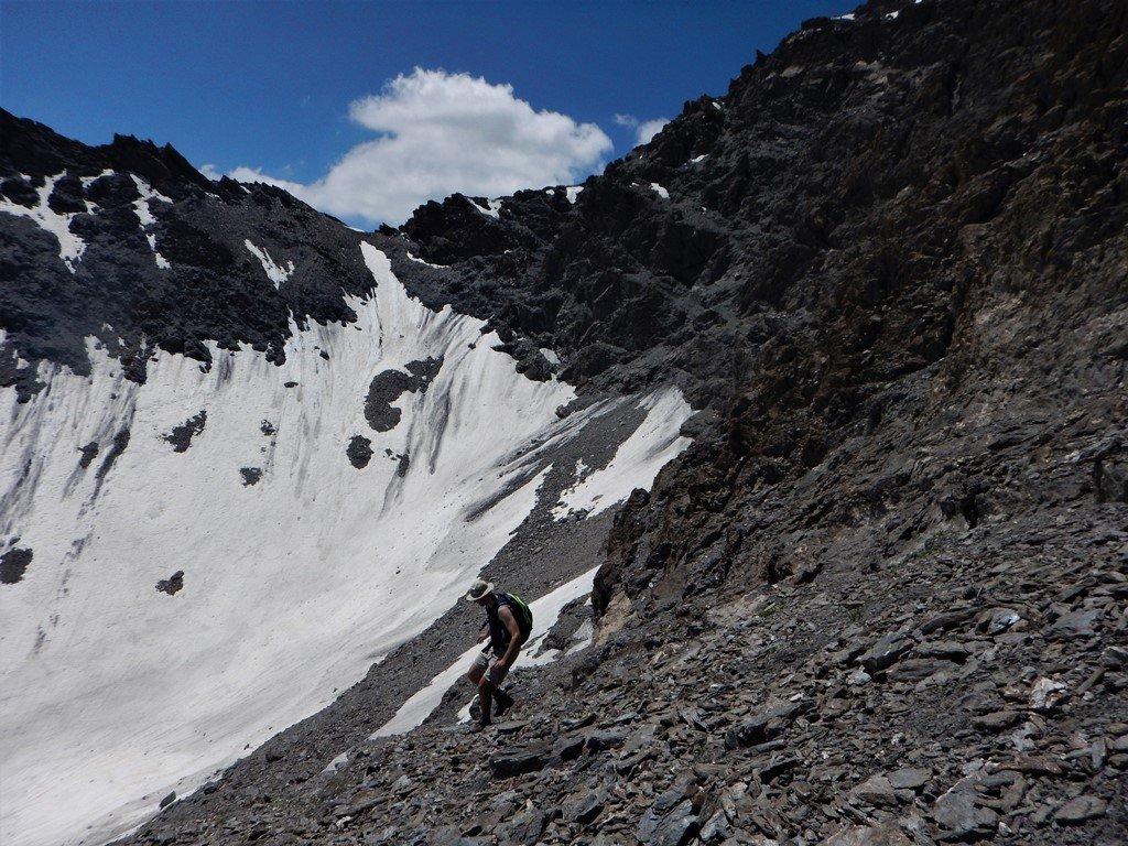 Verso la valletta glaciale