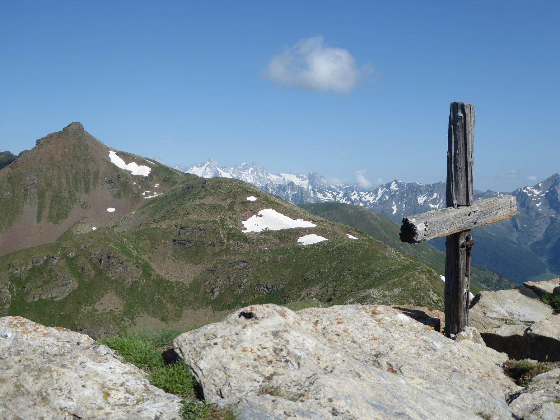 monte Tsa dalla croce della Chaligne
