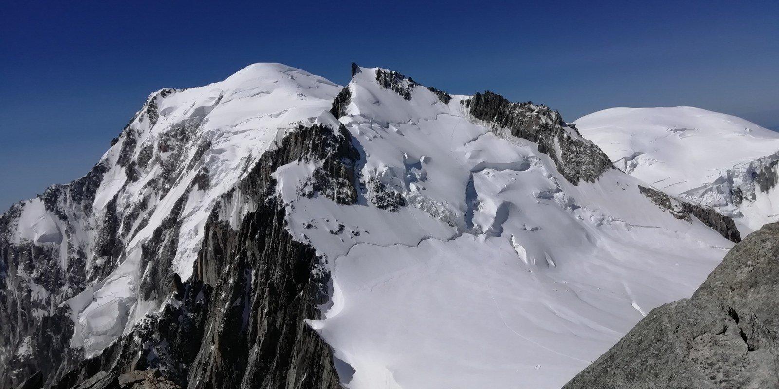 Bianco e Maudit dalla cima