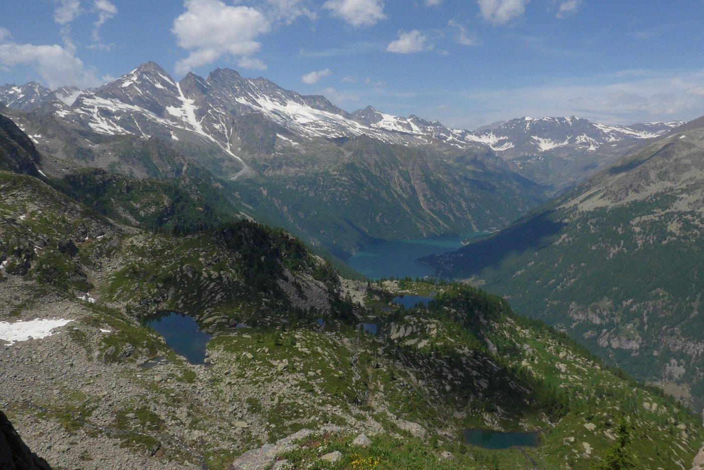 Spettacolare panorama dalla Bocchetta
