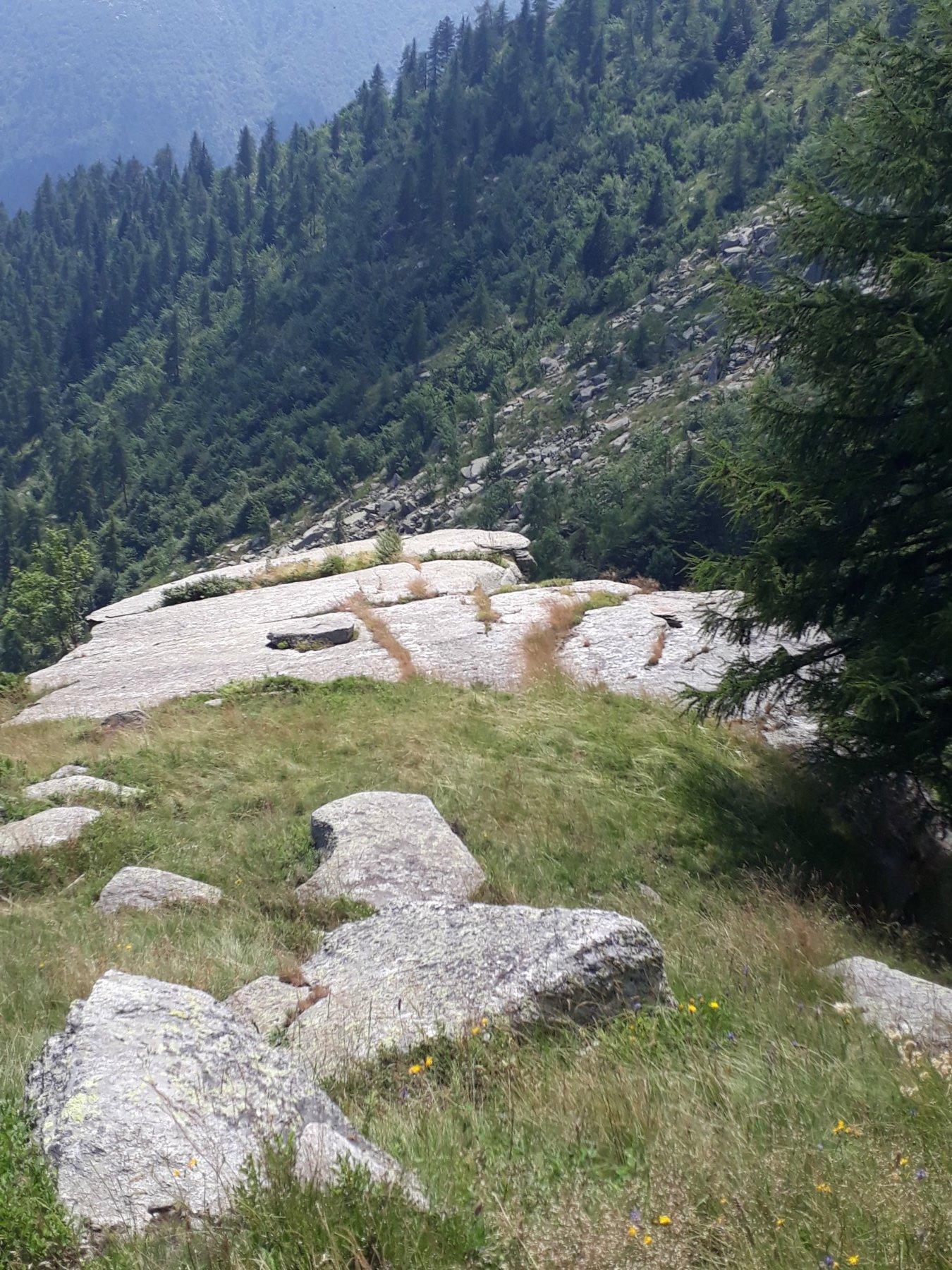 Parte sommitale della falesia, vista dalla strada sterrata