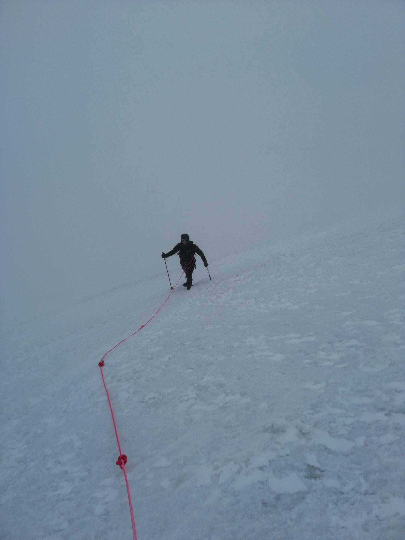 Whiteout sul ghiacciaio