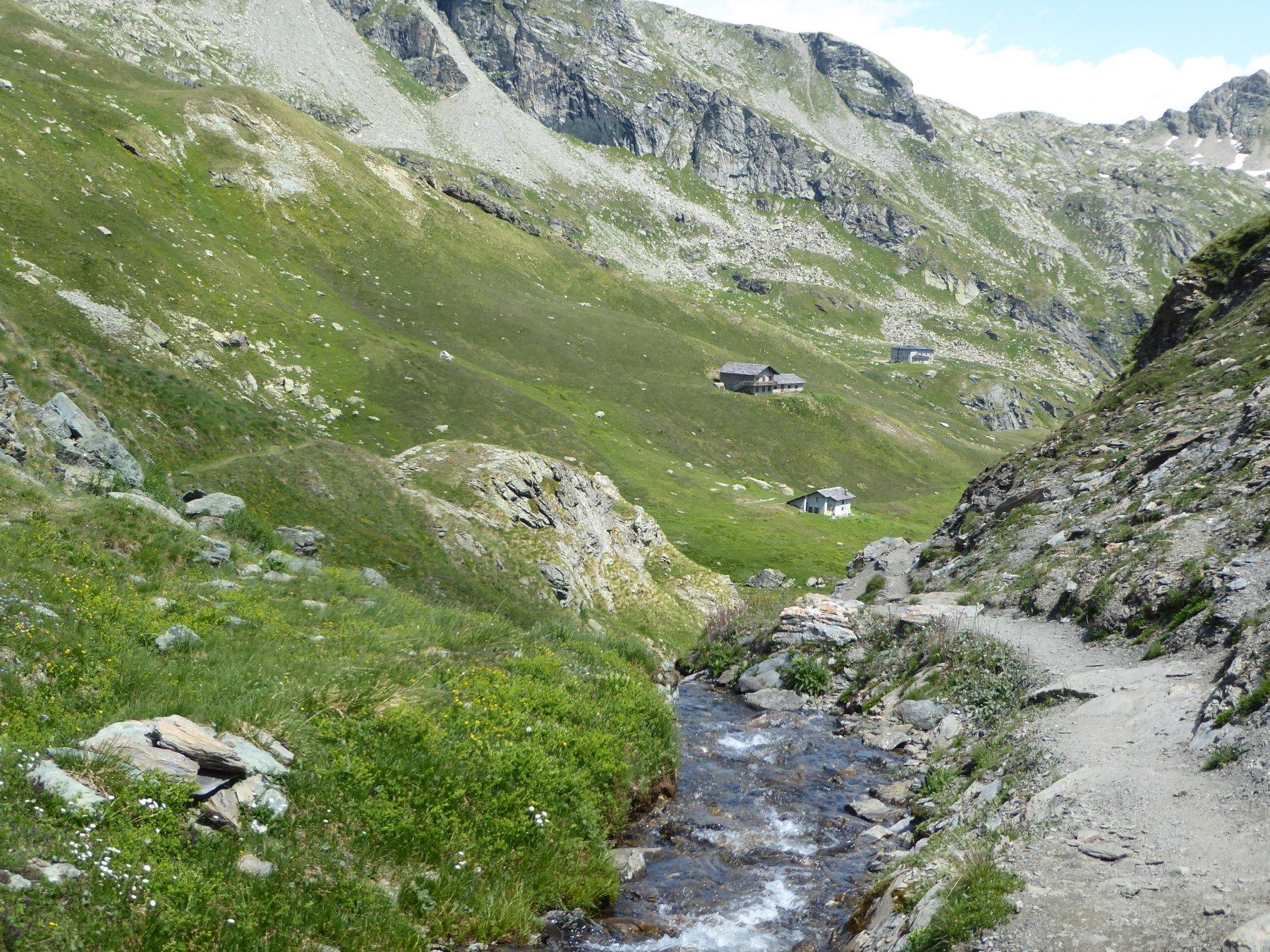 dopo il lago Battaglia, scendendo verso il rifugio Arp