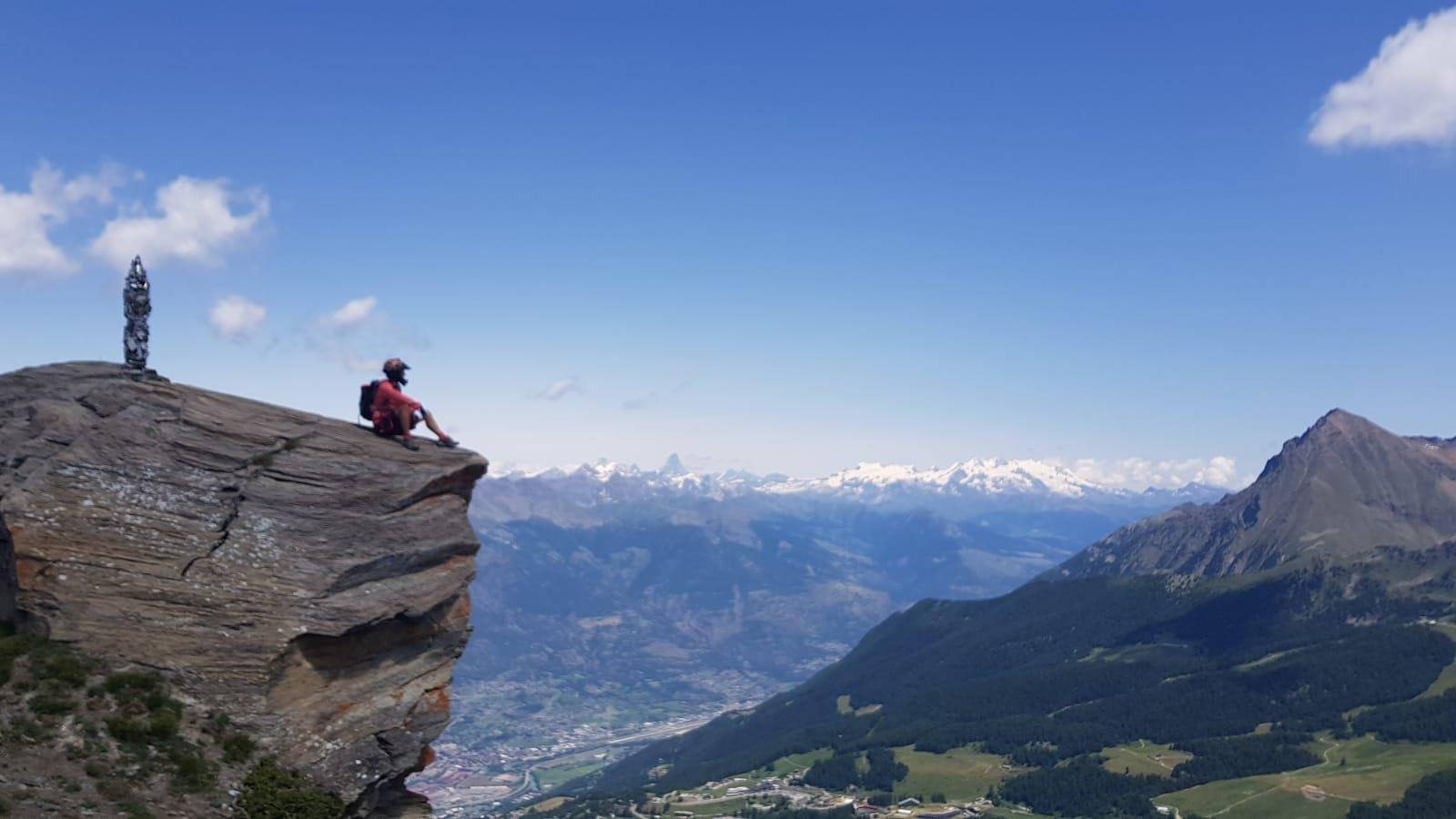 Panorama dalla cima Pointe de la Pierre
