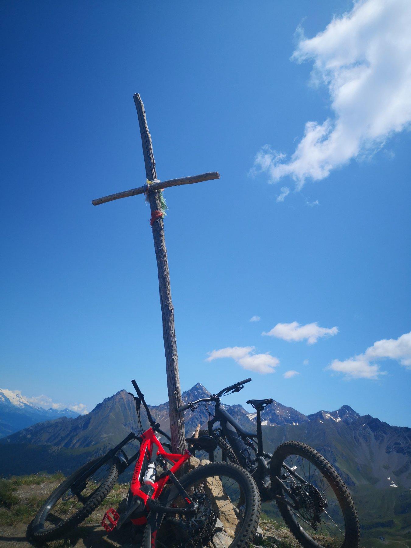 Croce in legno Pointe de la pierre