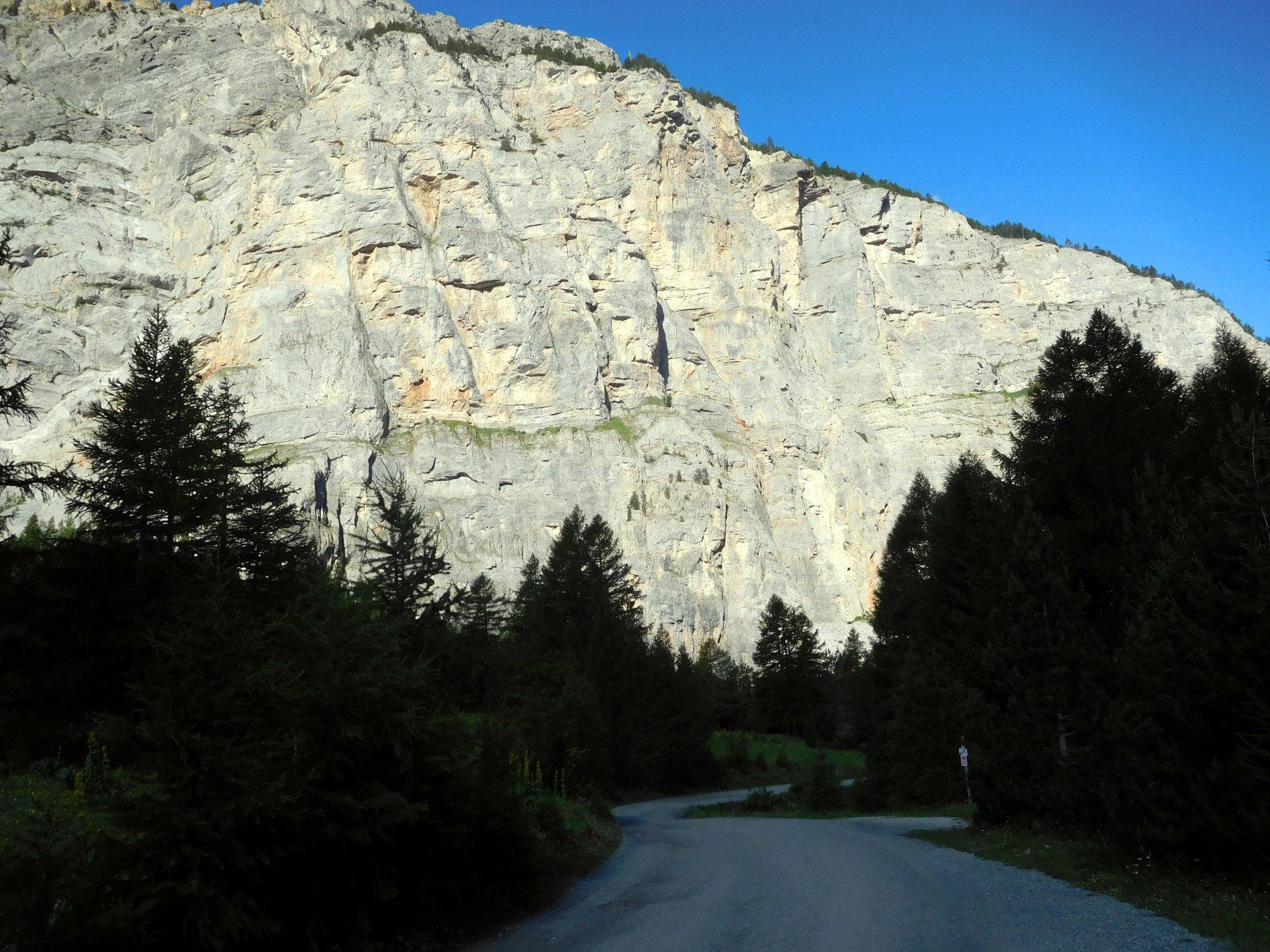 risalendo la valle Stretta
