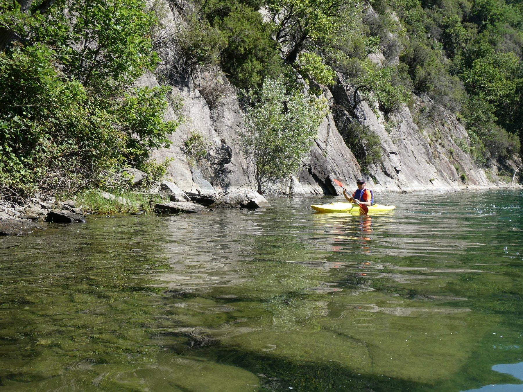 alcuni tratti trasparenti nel lago di Piona