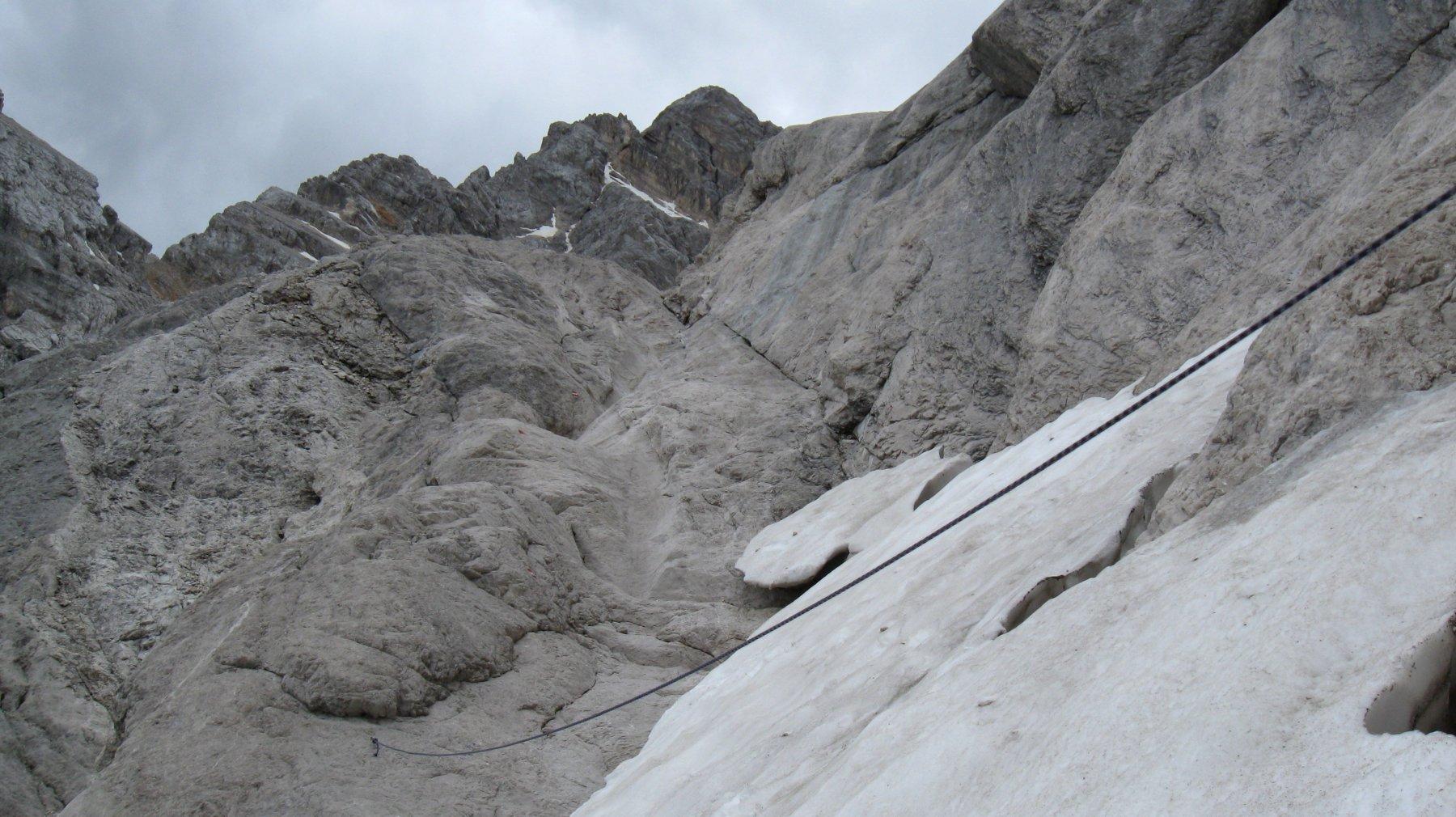 tratto delicato con neve ghiacciata