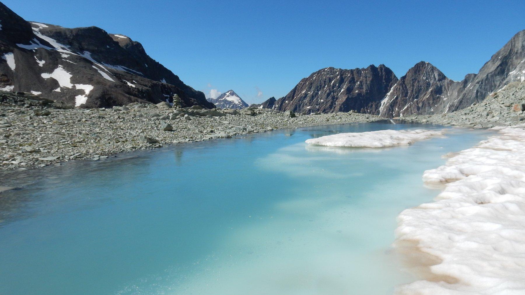 Lago glaciale del Col Collon.