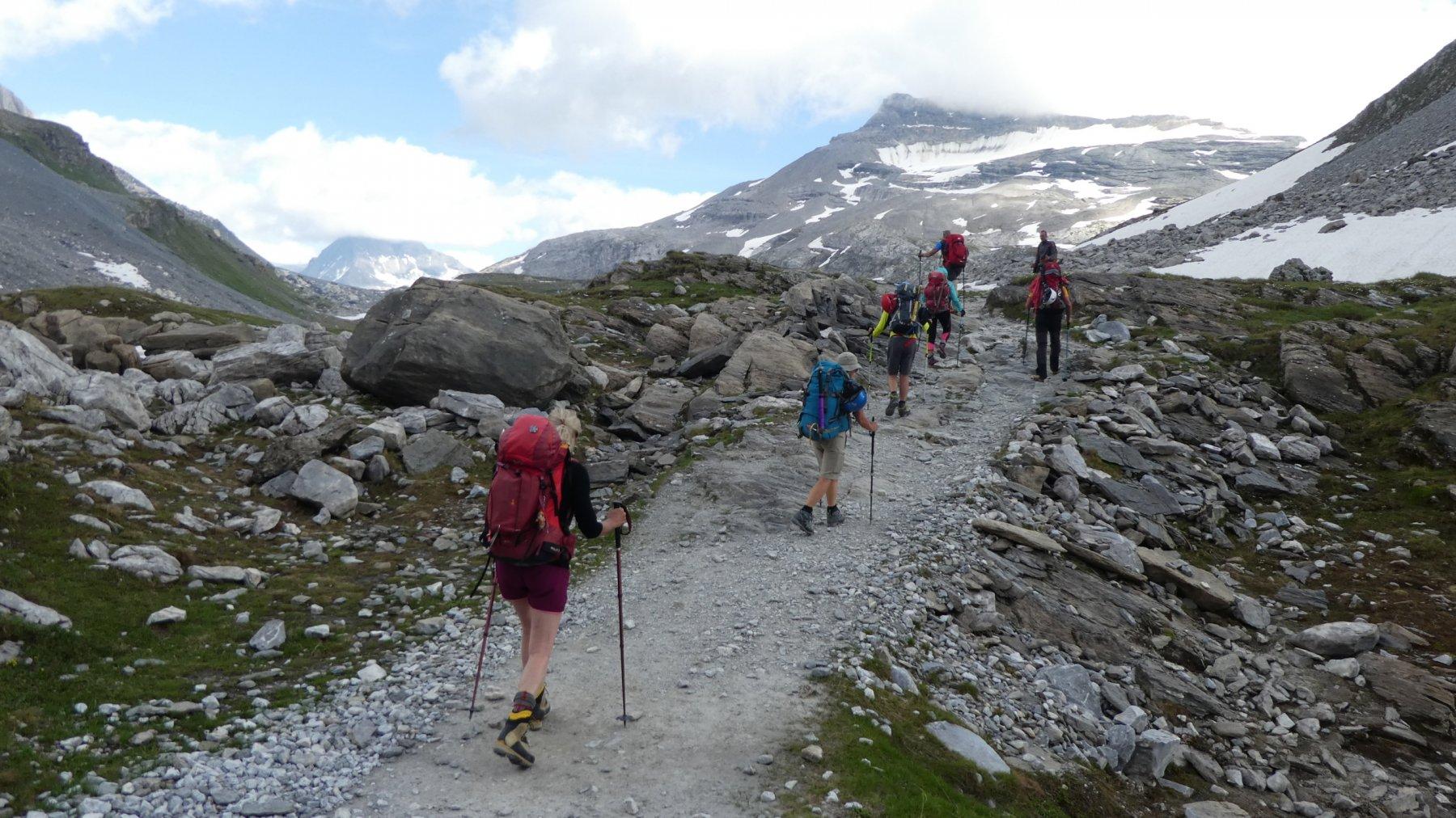 ultimo tratto di sentiero per il Refuge Col de la Vanoise