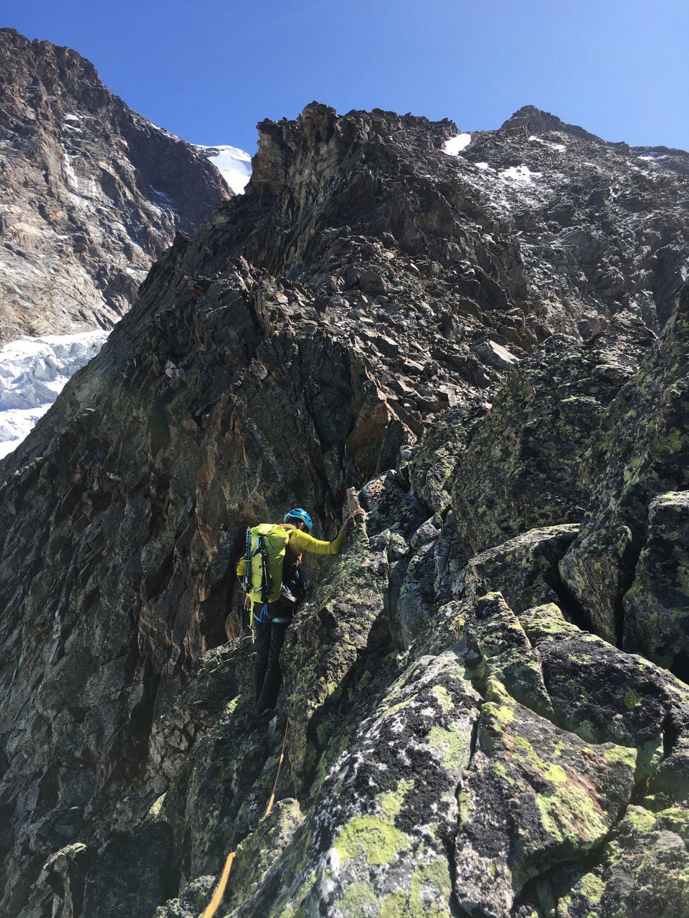 Sui tratti di III grado, facile ma sempre da scalare su bella roccia!