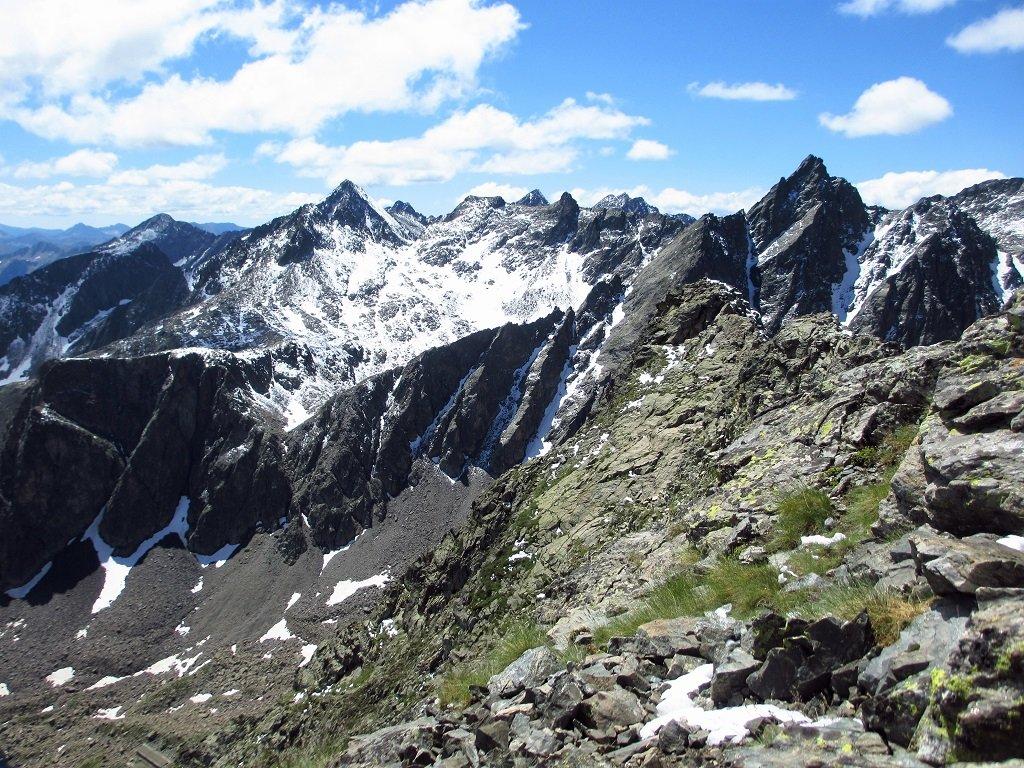 Cime della Montagnetta, Schiantalà, e Rocca rossa