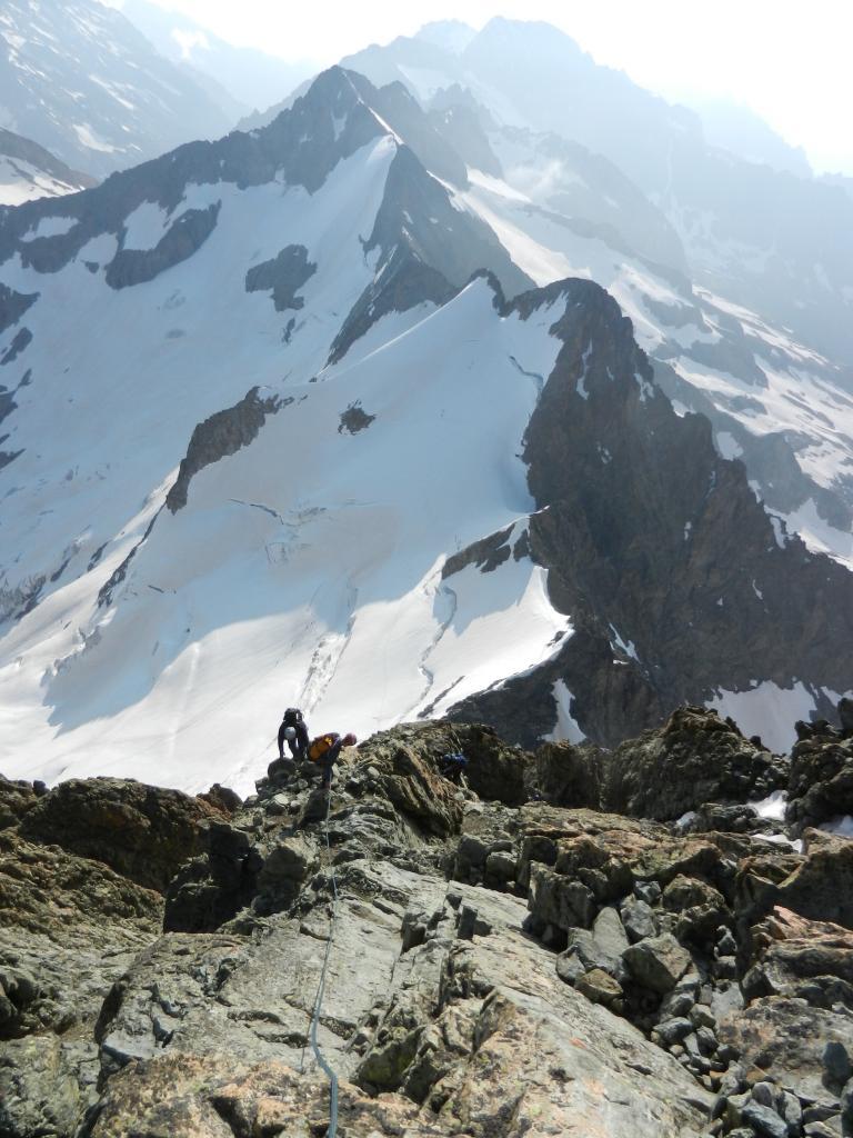 Bans (Les), sommet Sud Via normale dal Glacier de la Pilatte per la cresta ENE 2013-07-15