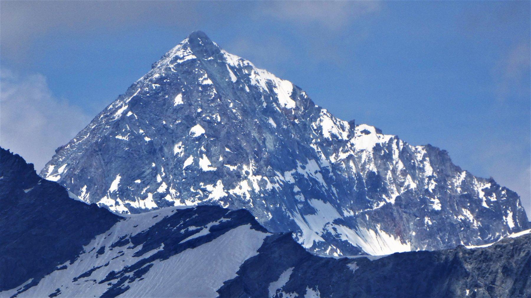 Weisshorn, a dz. la cresta della normale