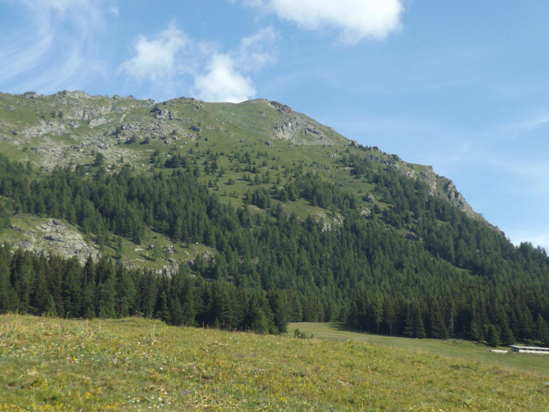 Monte Meabè visto dalla partenza