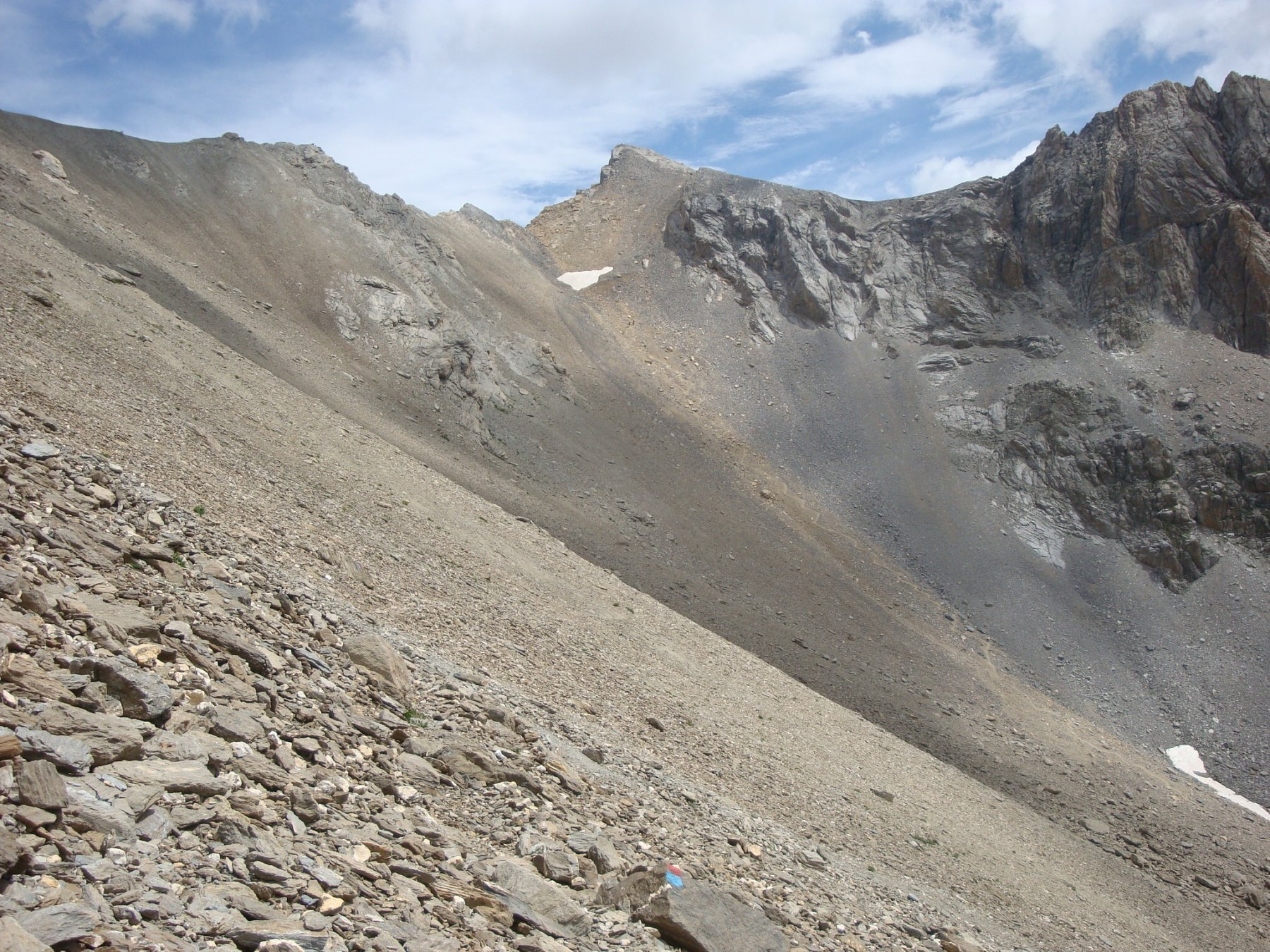 sentiero Cavallero e colle Ciaslaras sullo sfondo
