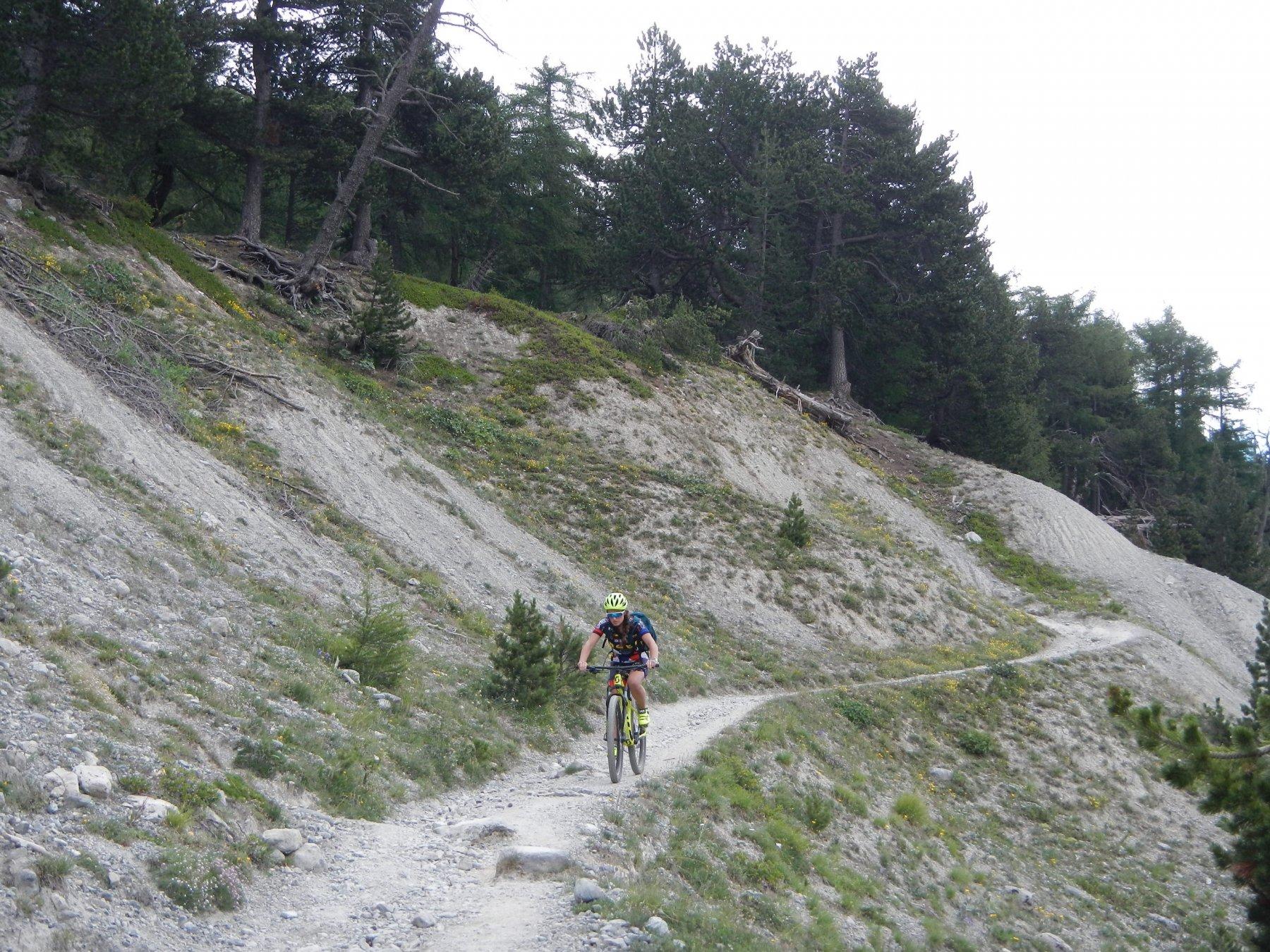 l'inizio del sentiero diretto su Nevache
