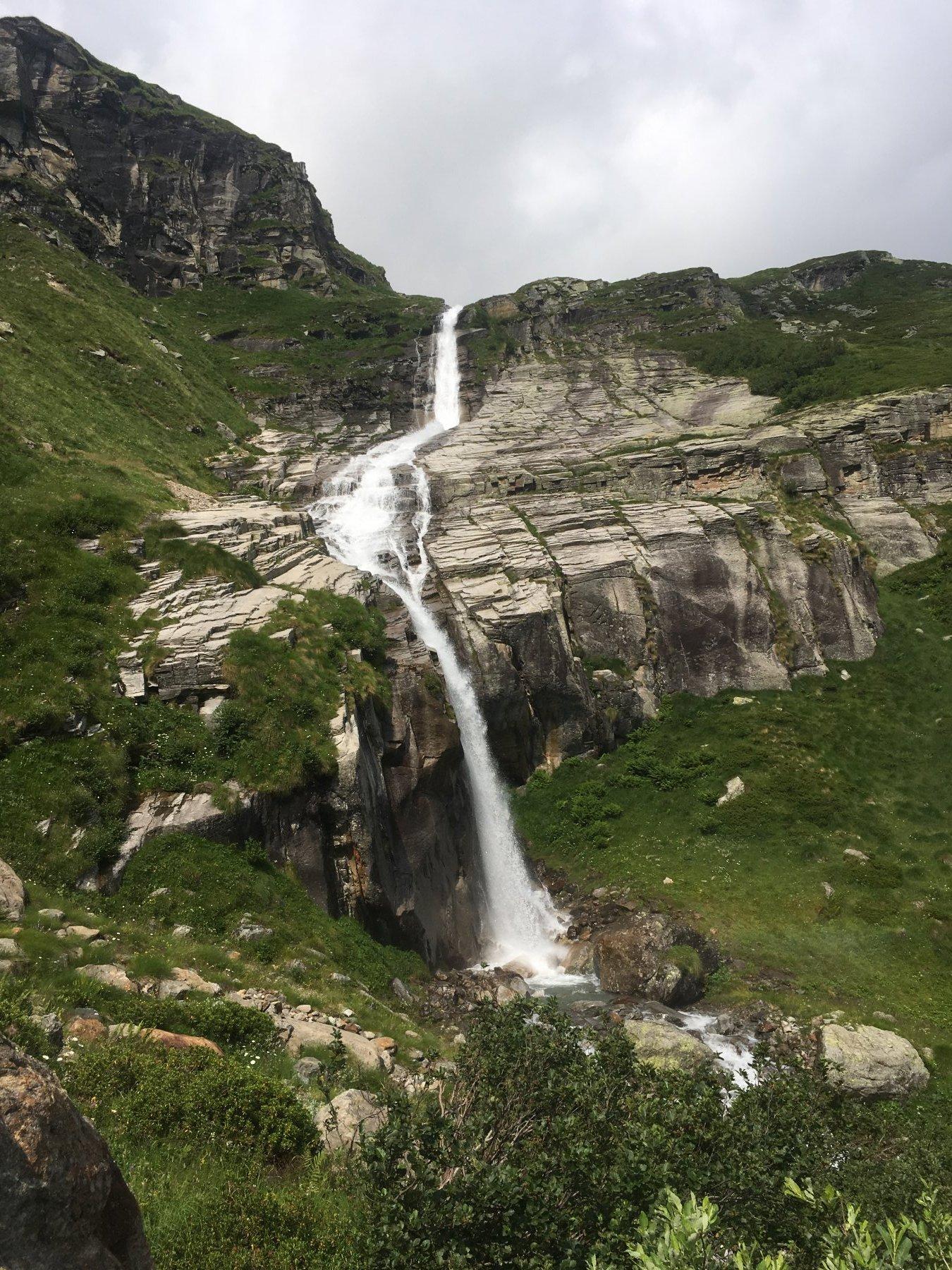 cascate lungo la salita