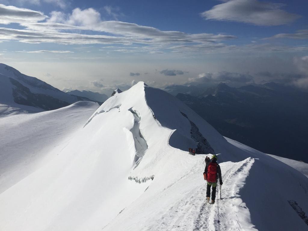 cresta prima della cima