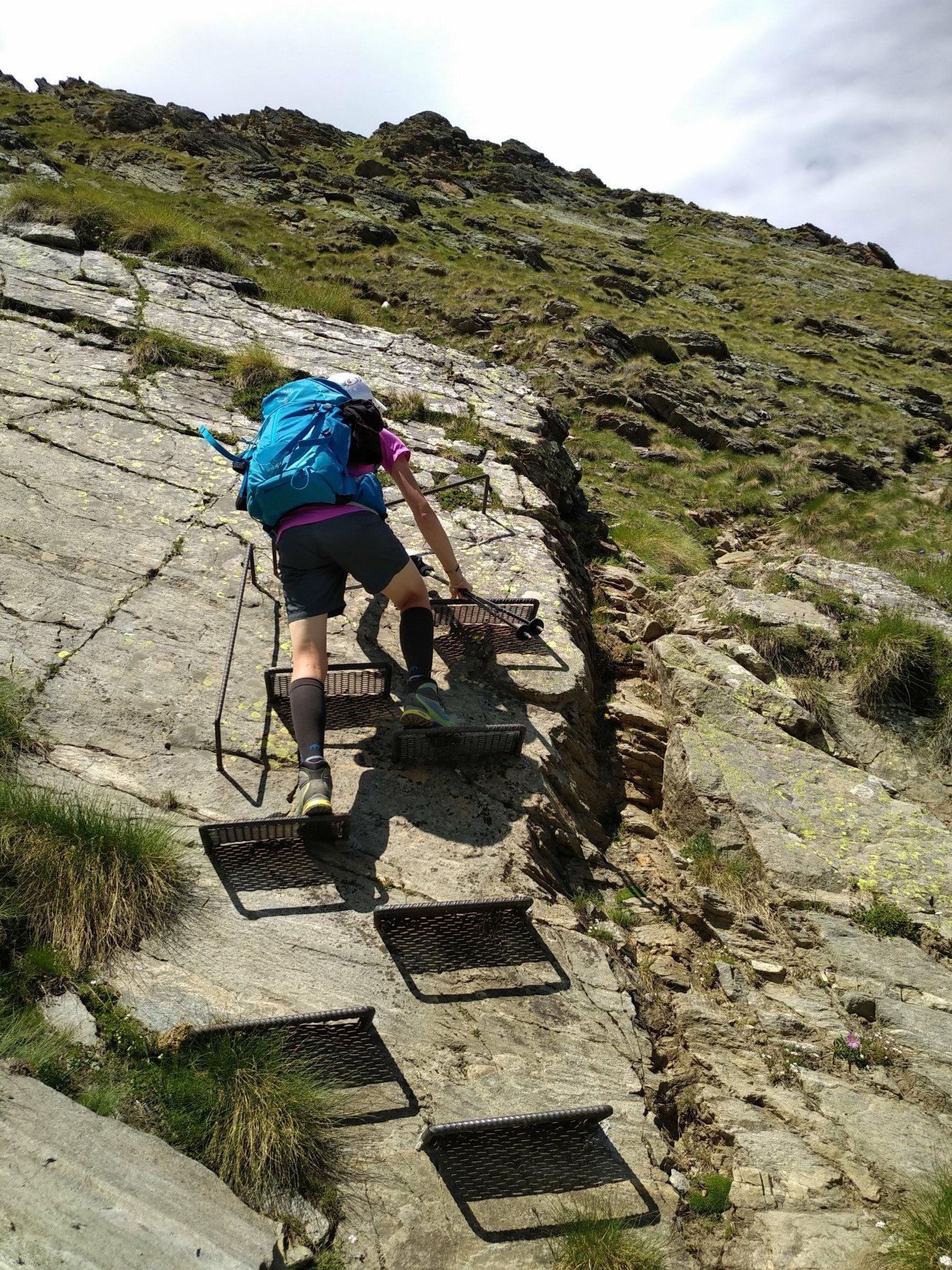 il tratto con gli scalini in ferro