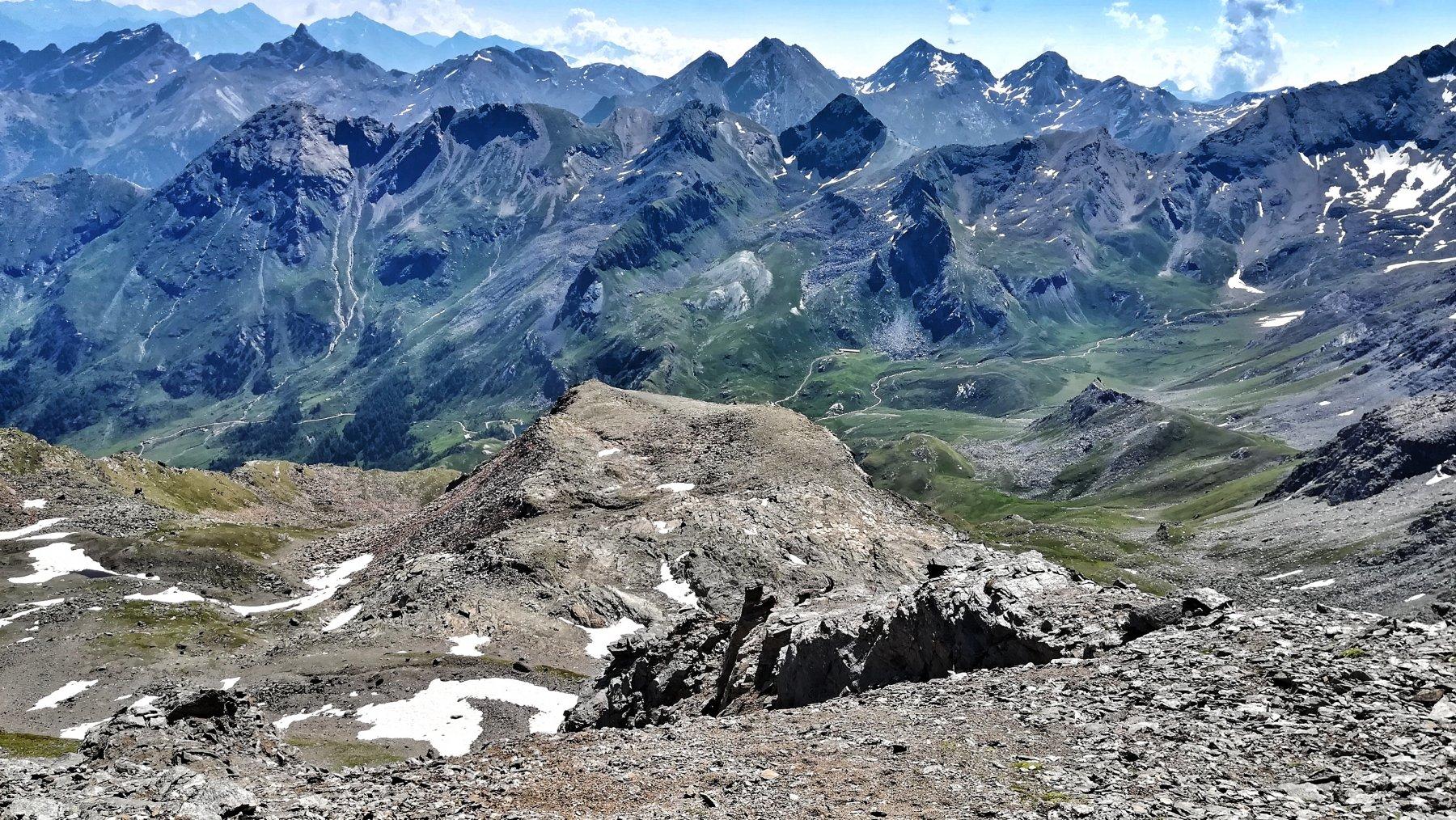 Vista sull'alto vallone di S.Marcel