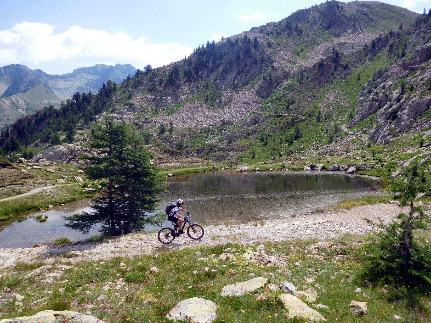 dura risalita dal lago del colle di Sant'Anna