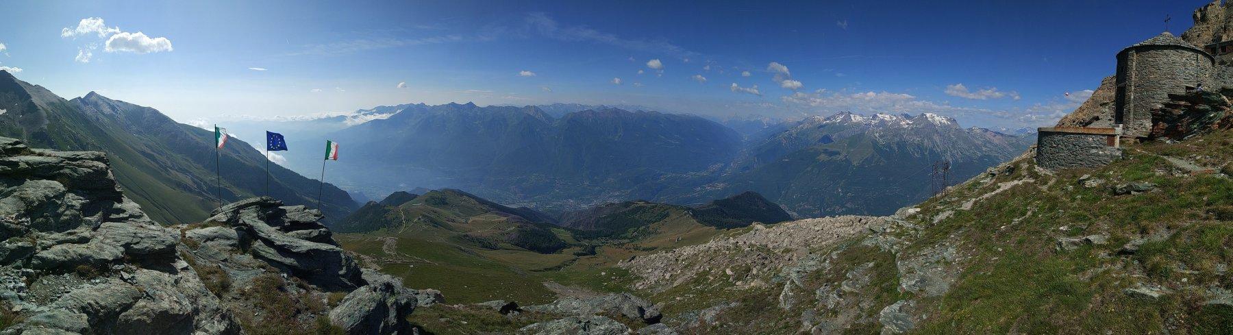 Panorama dal rifugio Cà d'Asti
