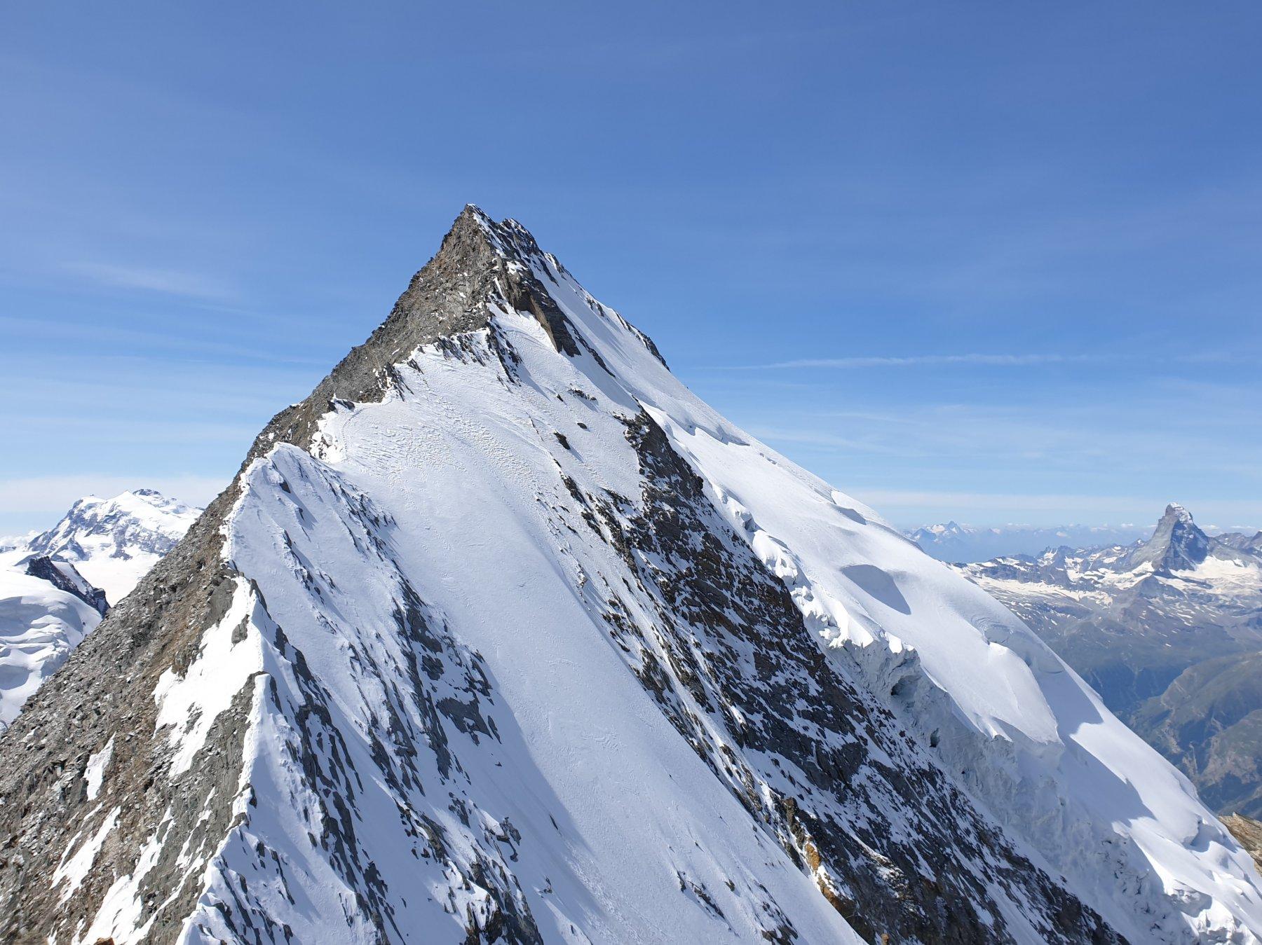 La cresta del Täschhorn appena discesa vista dal Domjoch