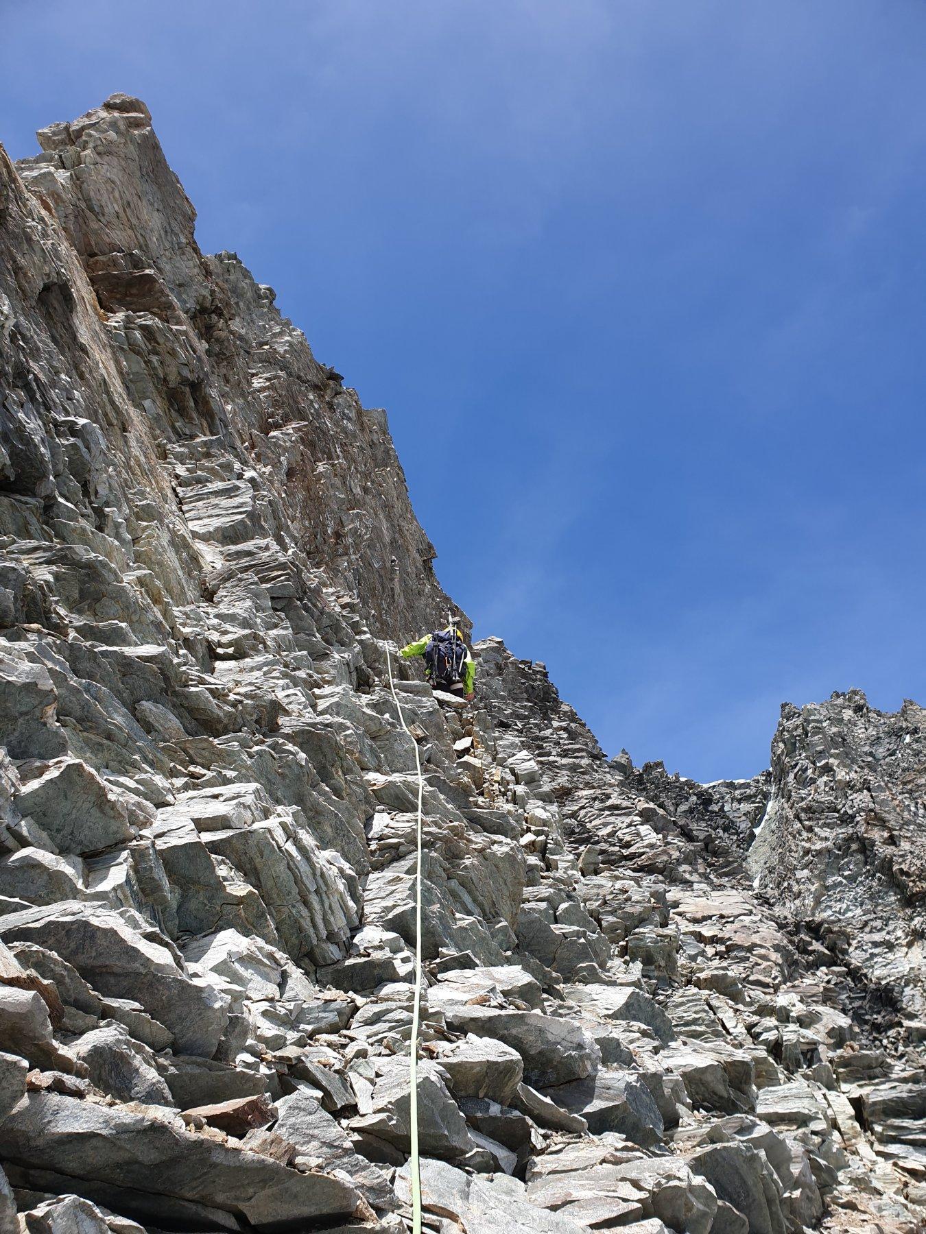 La sezione di marcio per tornare in cresta