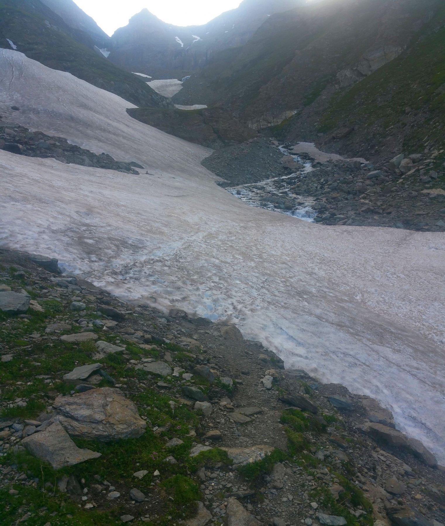 nevaio da attraversare poco prima del Tazzetti