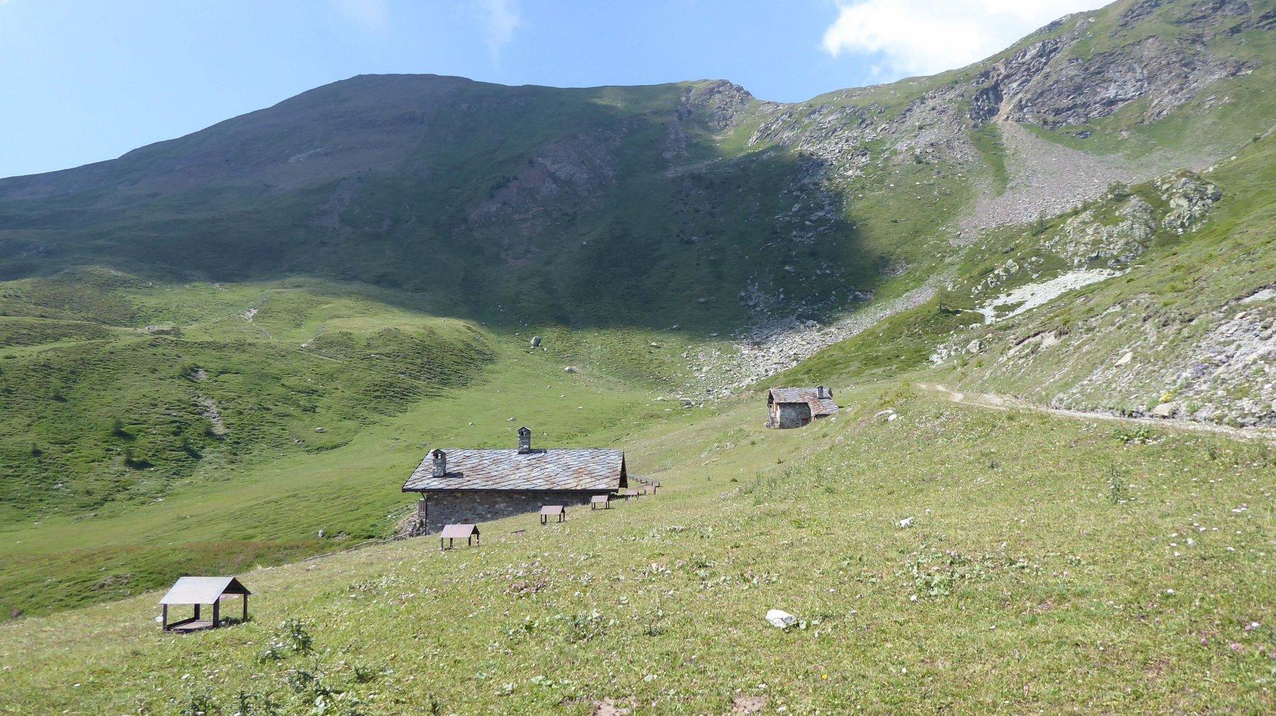 la Punta Chaligne e l'Alpe Tsa de chaligne
