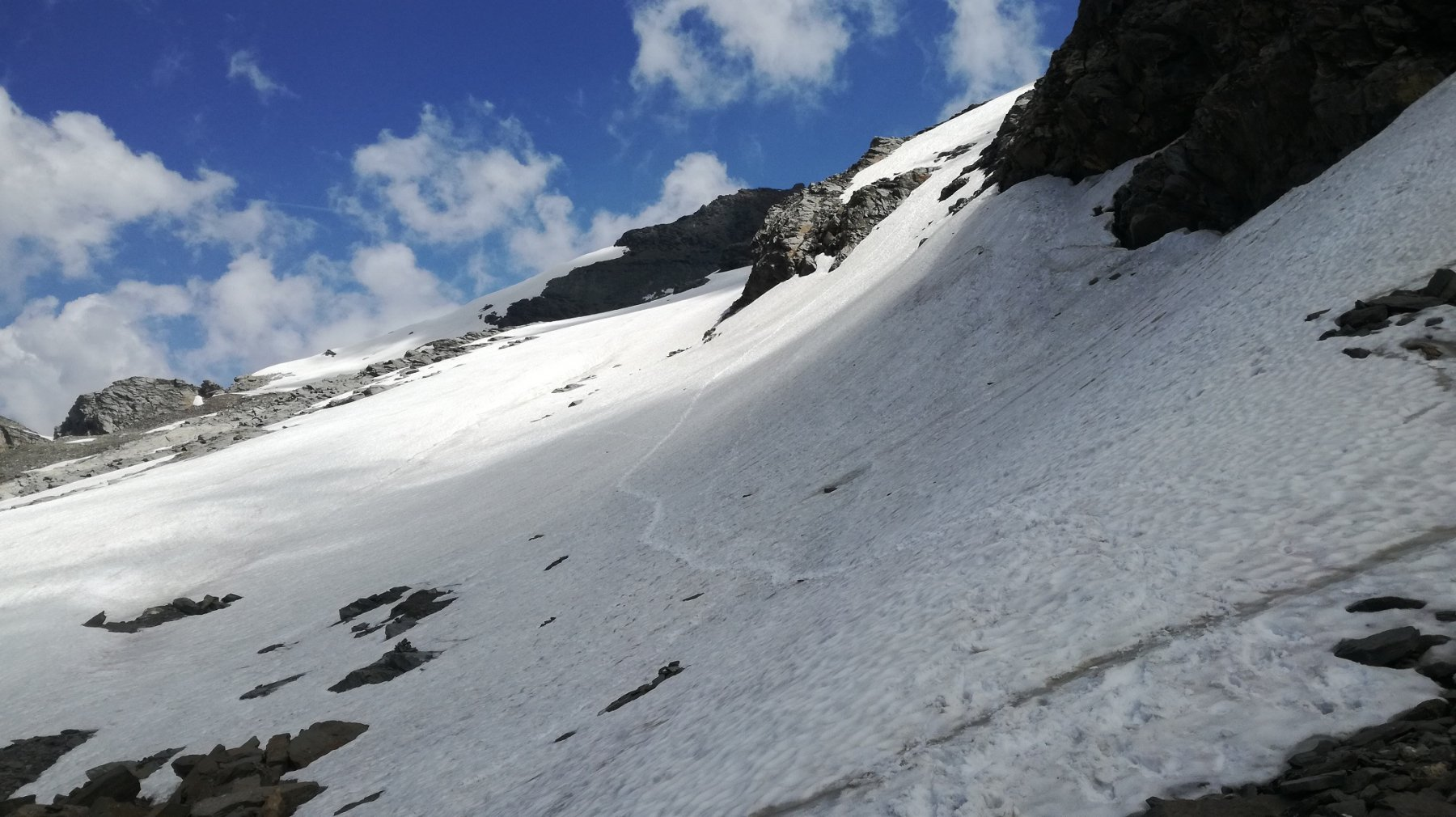 Parte iniziale ghiacciaio