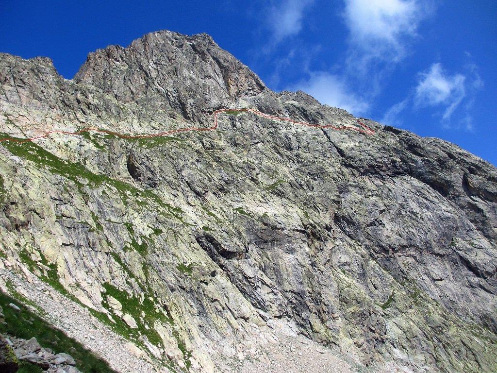 La via normale alla cima Oriol