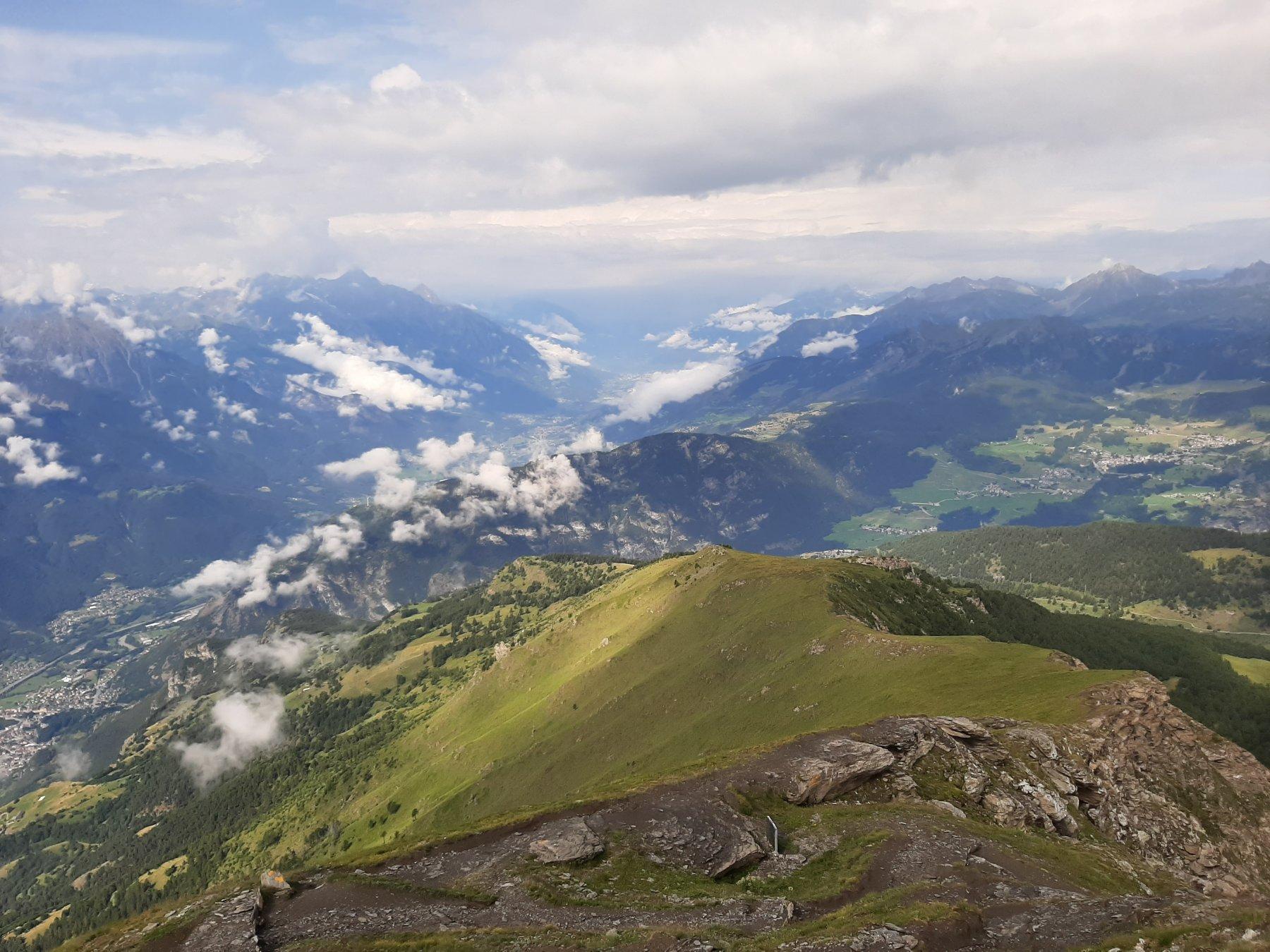 Cresta di salita e alta Valle d'Aosta