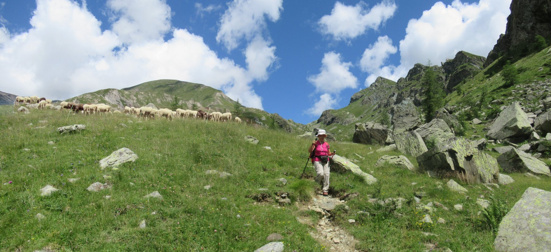 Sopra il rifugio nei pressi dell'alpe La Reale