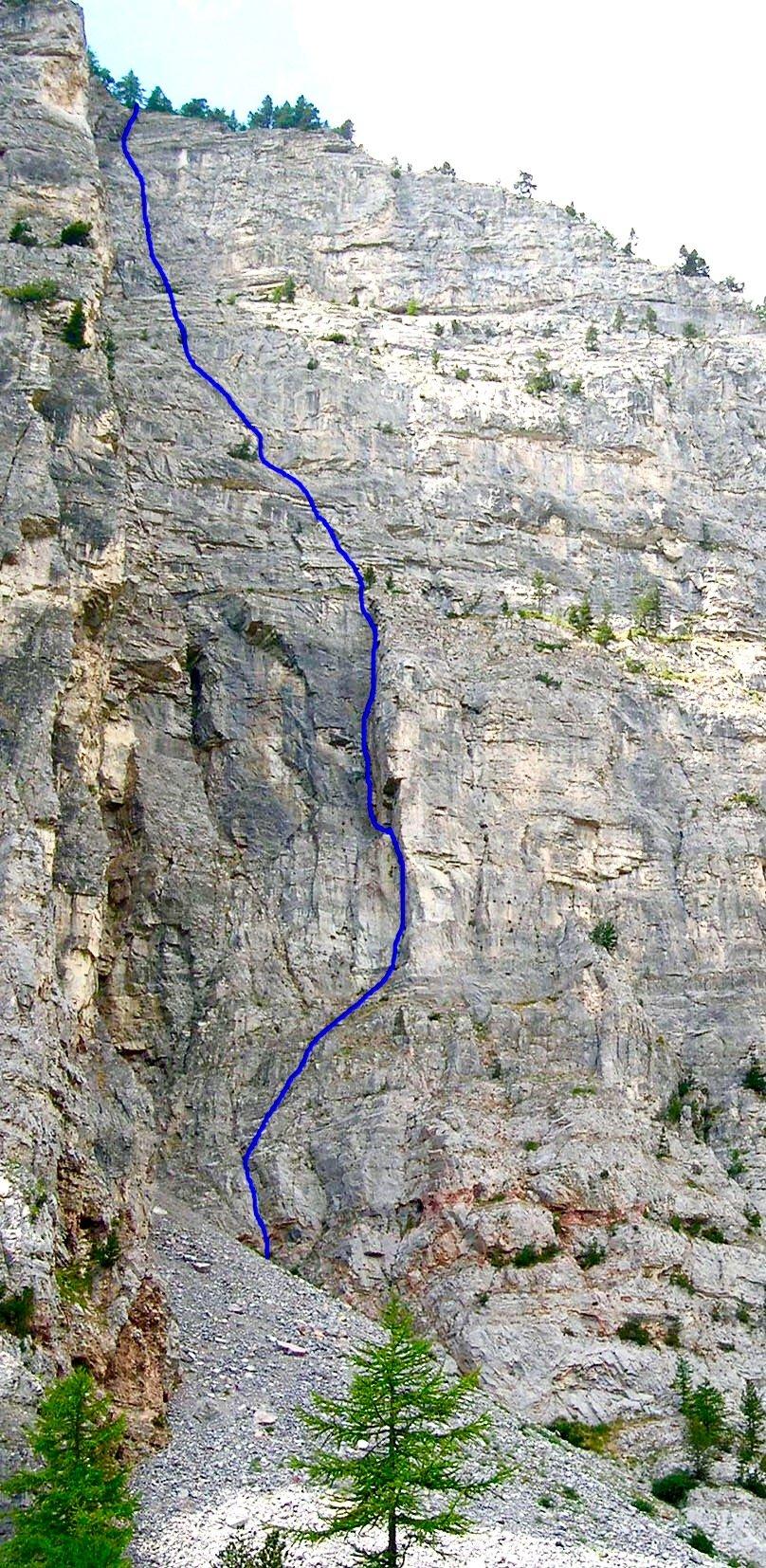 Il tracciato della via, dal sito altox