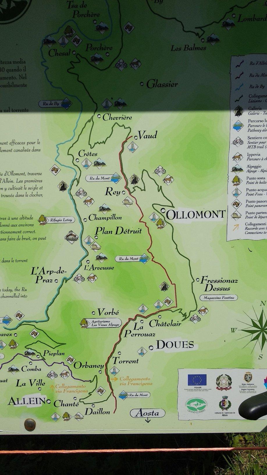 cartello dell'ippovia posizionato lungo il percorso