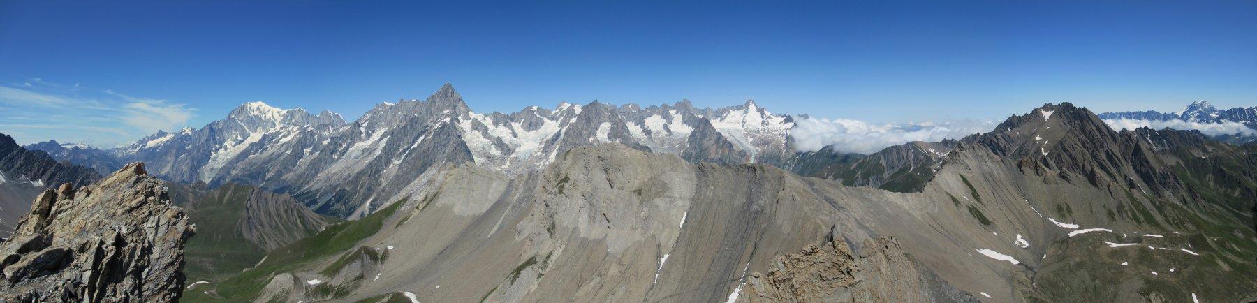Grandioso panorama dalla cima