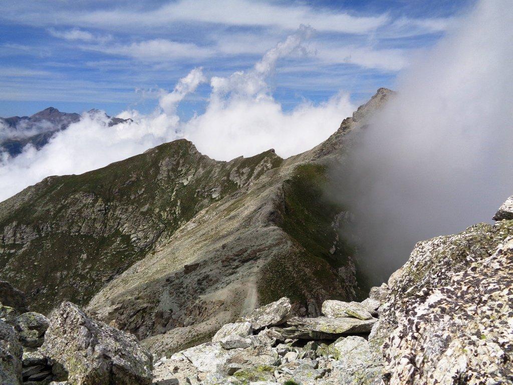 Cresta che collega Camoscere e Pelvo d'Elva