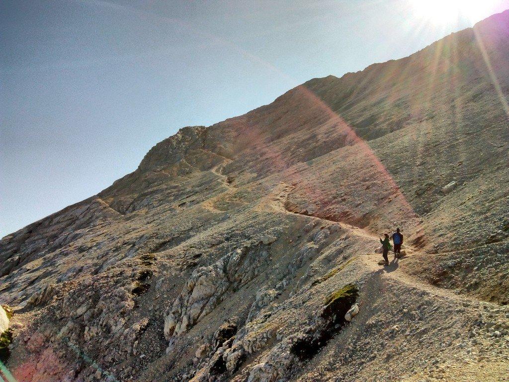Bivio dal sentiero di passo Cannone (salita al canalino poi salita in cresta)