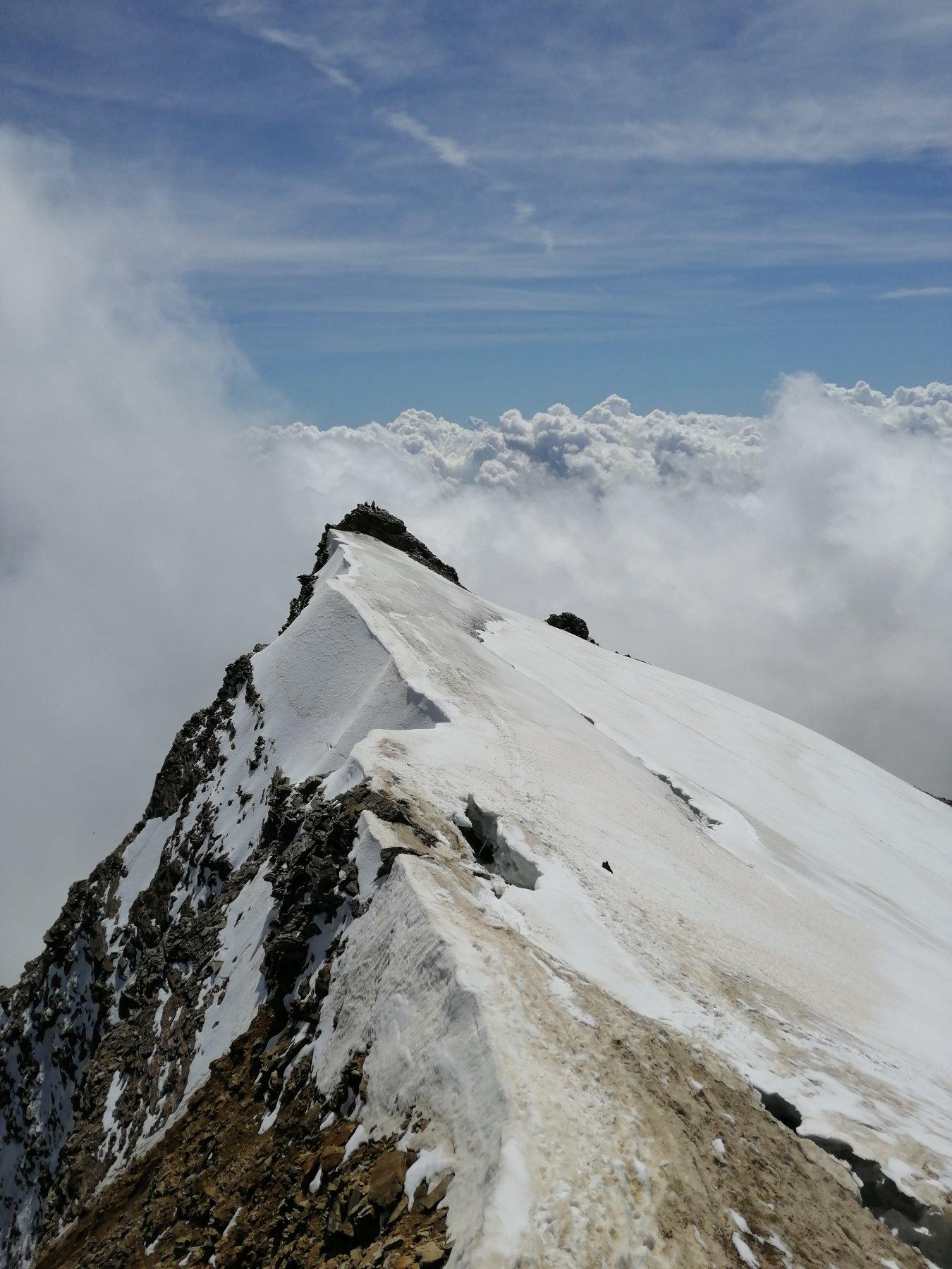 La Giordani vista dalla cresta per la Vincent