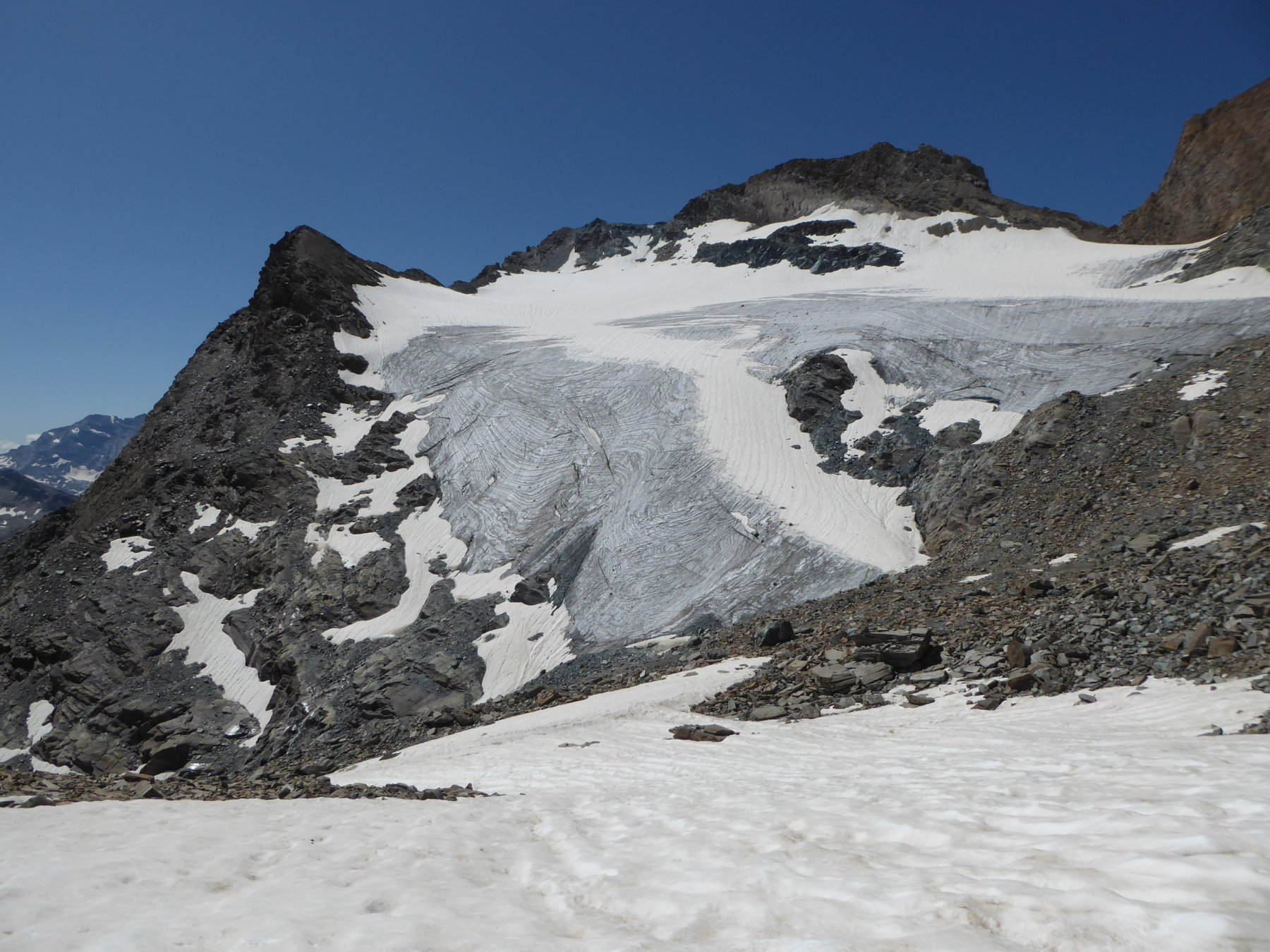 ghiacciaio dell'Aouille, sullo sfond il Taou Blanc