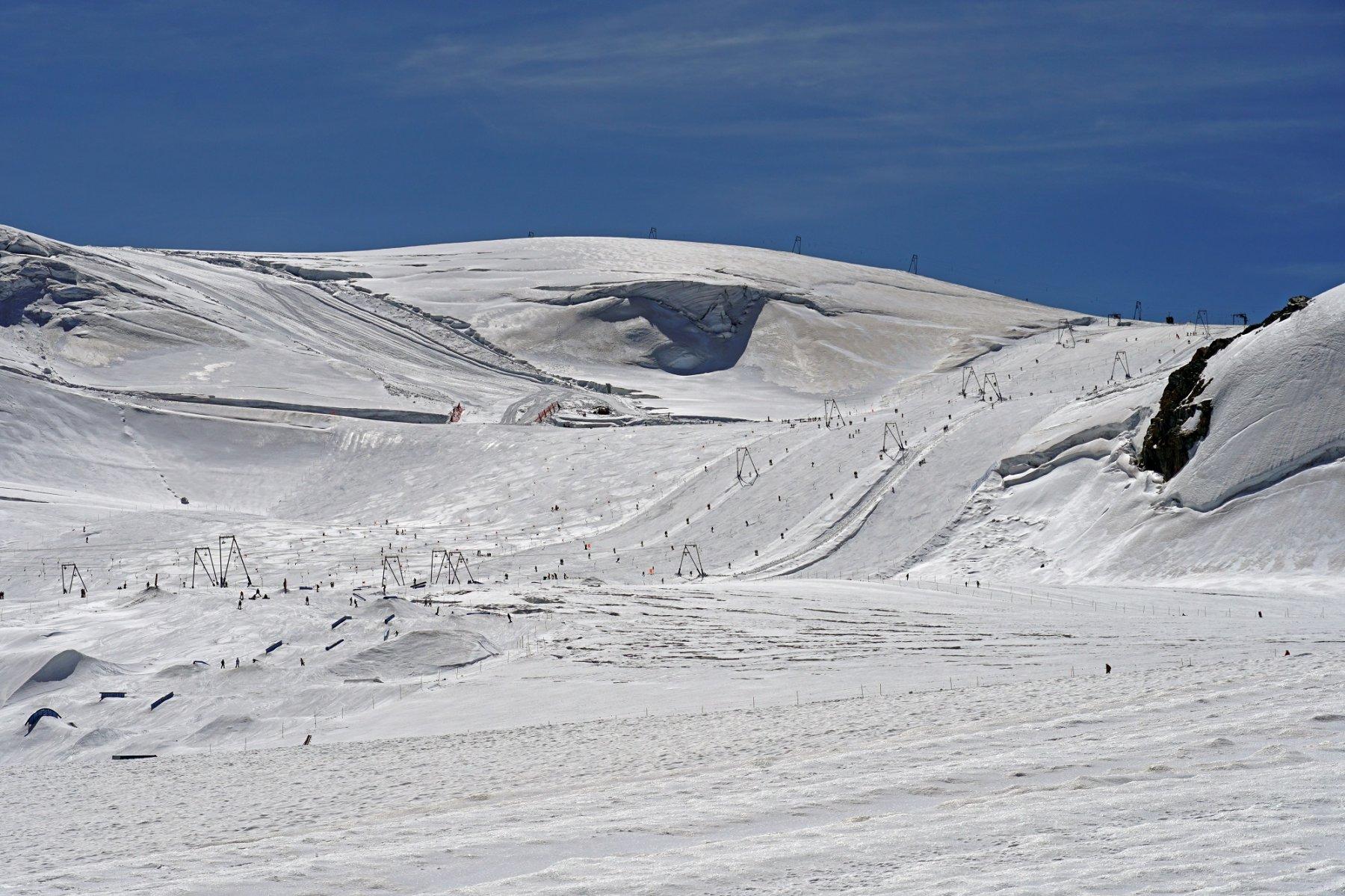 Impianti aperti a Plateau Rosà