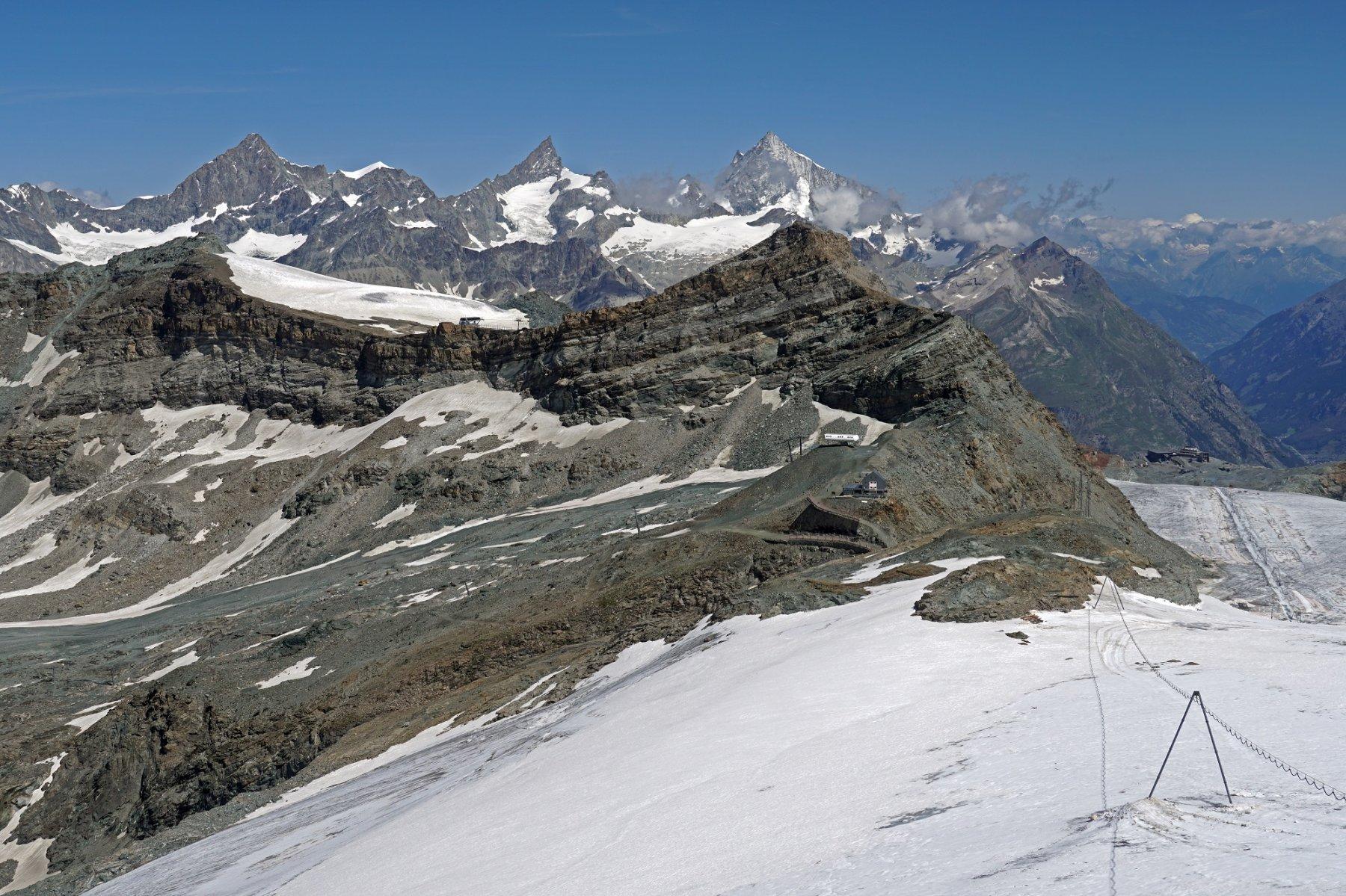 Panorama verso il colle Teodulo dalla Testa Grigia