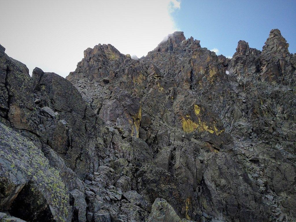 Parte iniziale della cresta NNO