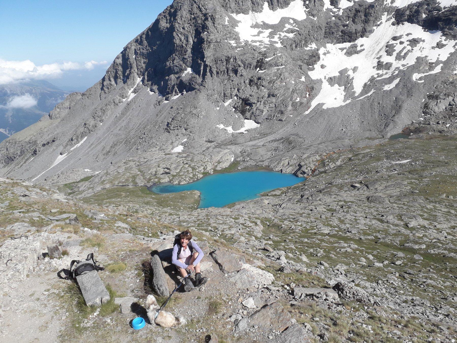 Dalla cima del Malamot verso il Giusalet