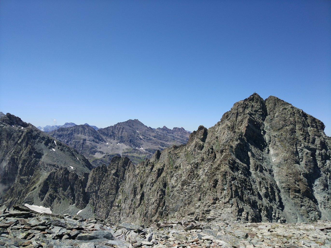 Monte Granero (destra), Salza e Mongioia in lontananza